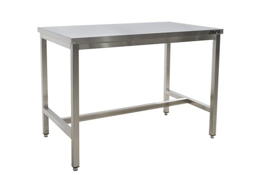 Saro Stainless steel | steel table without base plate 700 mm depth