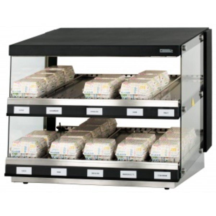 Warmhaltevitrine - Burger | Rostfreier Stahl L 800 x T 640 x H 685 mm