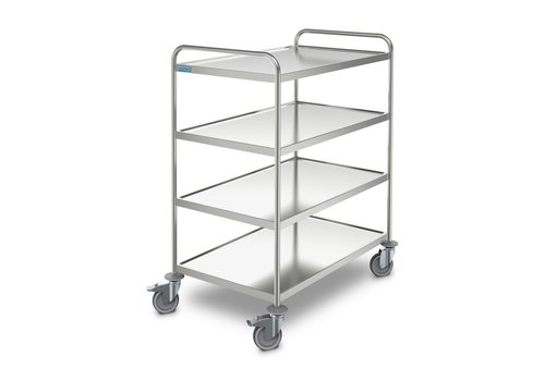 Hupfer Stainless steel serving trolley 4 shelves 1095x695x1275 mm