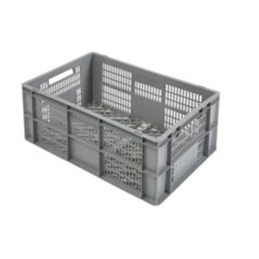Perforierte Euronorm-Kunststoffkisten 600 x 400 x 270 mm