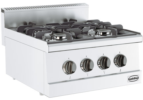 Combisteel Stainless steel gas stove with 4 burners 400x600x300mm |