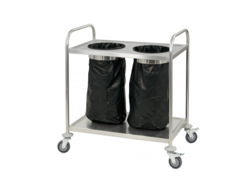 Casselin Servierwagen mit Mülleimer Rostfreier Stahl