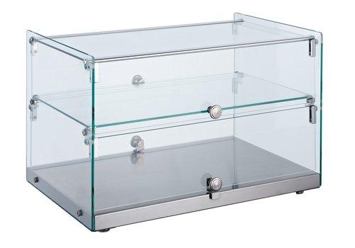 Combisteel Glasvitrine Rechte Winkel 50 Liter | 554 x 361 x 370 mm