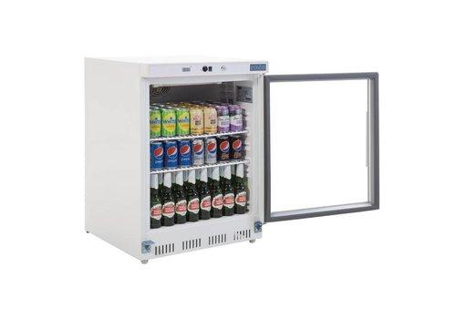 Polar Kühlschrank mit Glastür Weiß 150L