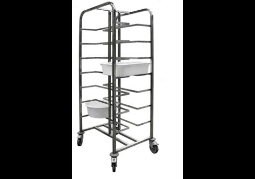 Sofinor Bakery Regaalwagen | Stainless steel 8 floors