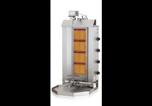 Combisteel Kebab Grill Gasmotor oben | 12,9 kW | 34 kG