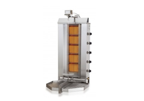 Combisteel Kebab Grill Gasmotor oben | 16,1 kW | 42 kG