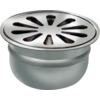 Van den Berg  Round Drain Well Stainless steel ø 100 mm | 18 l / min