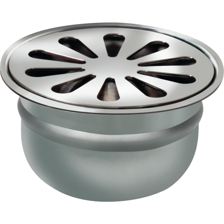 Round Drain Well Stainless steel ø 100 mm | 18 l / min