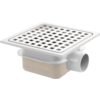 Van den Berg  Drain Put   ABS well housing Stainless steel grid 150 x 150 mm   Incl. Connection