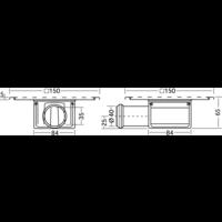 Afvoerput   RVS   150 x 150 mm