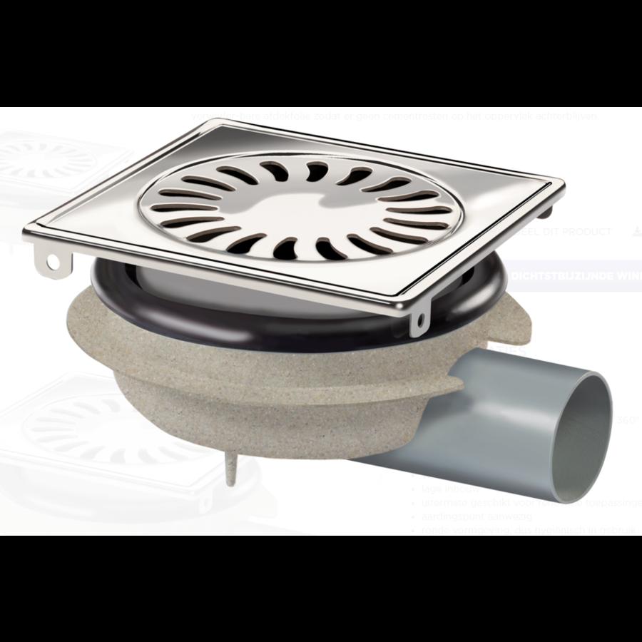 Afvoerput | RVS | ABS | 150 x 150 mm