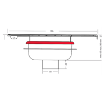 Afvoerput   RVS   ABS   196 x 196 mm