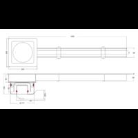 Koppelbaren Sleufgoot | RVS | 1000 MM