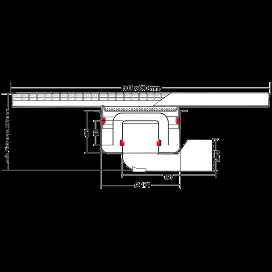 Horeca RVS Afvoergoot | 500 mm