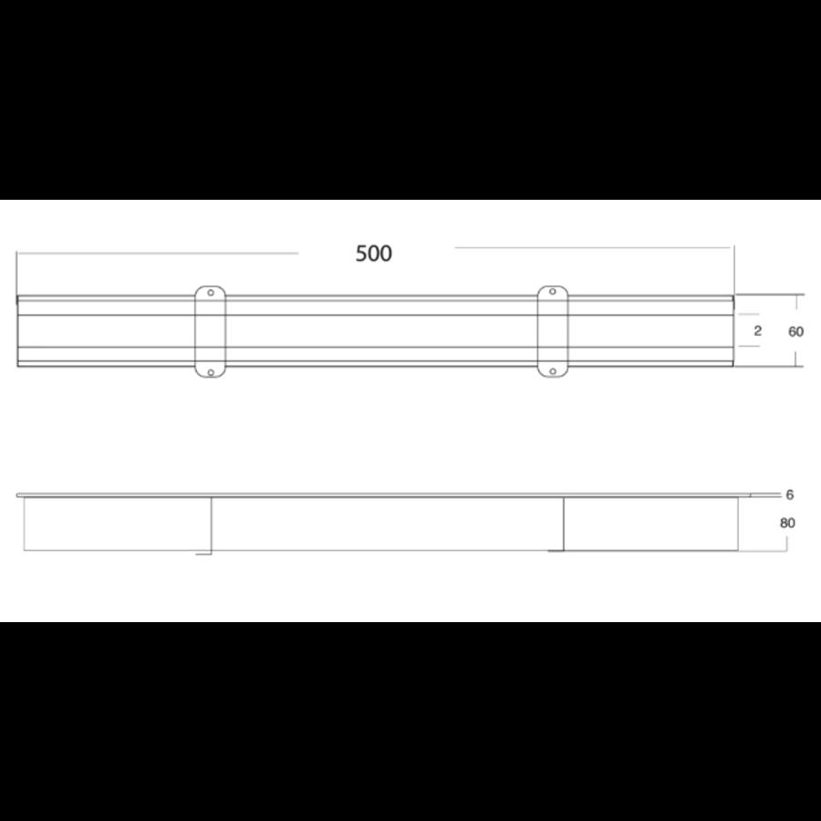 Koppelbaren Sleufgoot | RVS | 85 l/min