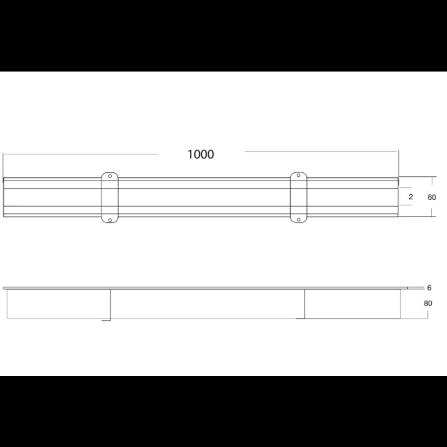 Koppelbaren Sleufgoot | RVS | 85 l/min | 230 x 230 mm