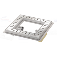 Floor drain | Square Stainless steel 300 x 300 mm
