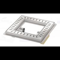 Vloerput | Vierkant | RVS | 300 x 300 mm