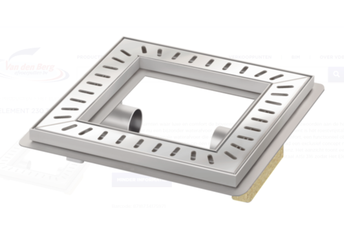 Van den Berg  Floor drain | Square Stainless steel 300 x 300 mm