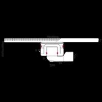 Horeca RVS afvoergoot   800 mm