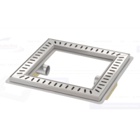 Vloerput | Vierkant | RVS | 400 x 400 mm