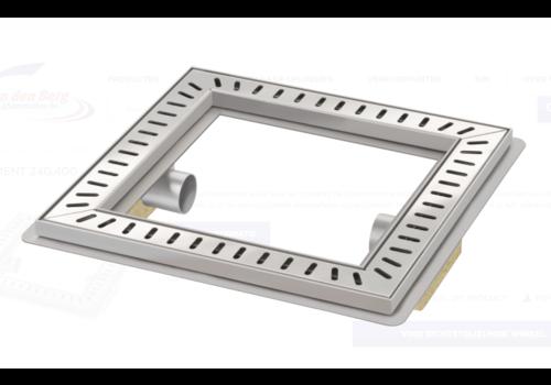 Van den Berg  Vloerput | Vierkant | RVS | 400 x 400 mm