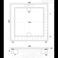 Vloerput   Vierkant   RVS   400 x 400 mm