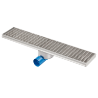 Drainage gutter | Stainless steel 2000 x 200 mm