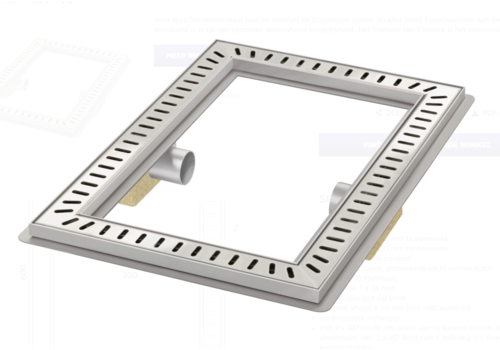 Van den Berg  Floor drain | Square Stainless steel 600 x 400
