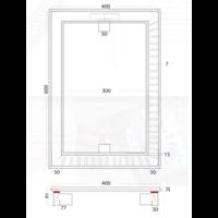 Vloerput | Vierkant | RVS | 600 x 400