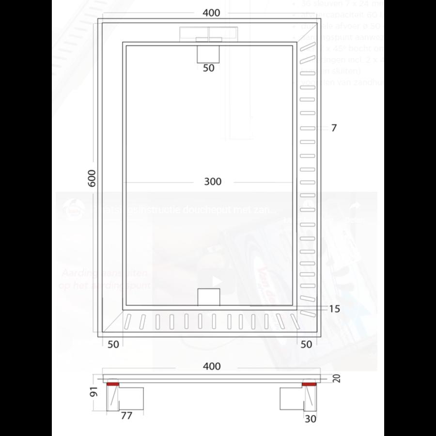 Floor drain | Square Stainless steel 600 x 400