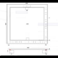 Vloerput | Vierkant | RVS | 600 x 600