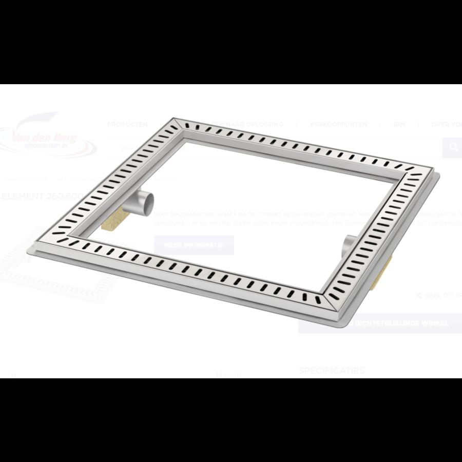 Floor drain | Square Stainless steel 600 x 600