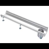 Stainless steel gutter part | dim. 500 x 200 mm | incl. exhaust | Ø 110 mm