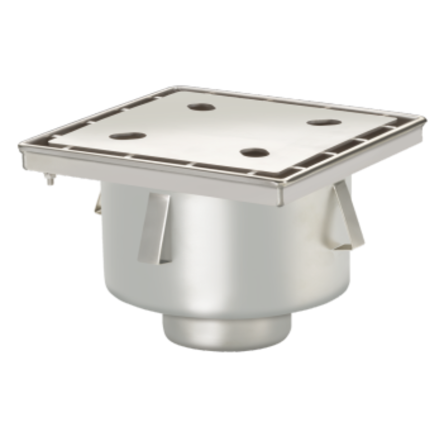 Drain well Industrial   Stainless steel 250 x 250 mm