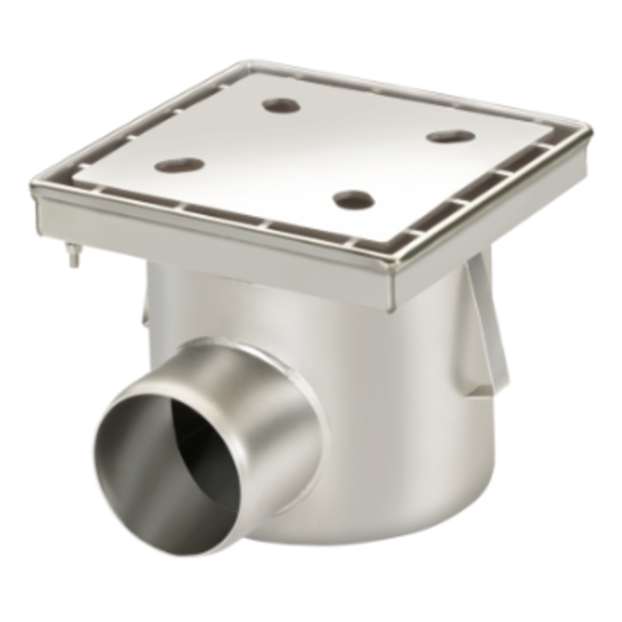 Drain | Industrial | Stainless steel 250 x 250 mm