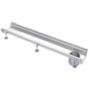 Van den Berg  Stainless steel gutter part | dim. 1000 x 200 mm | without exhaust