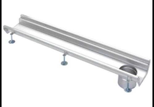 Van den Berg  Stainless steel gutter part | dim. 1000 x 200 mm | without exhaust