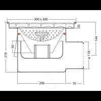 Volledig RVS Afvoerput | 100 l/min | antislip