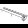 Van den Berg  Stainless steel gutter part | dim. 1500 x 200 mm | incl. exhaust | Ø 110 mm