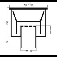 Industrial floor drain Stainless steel 400X400MM