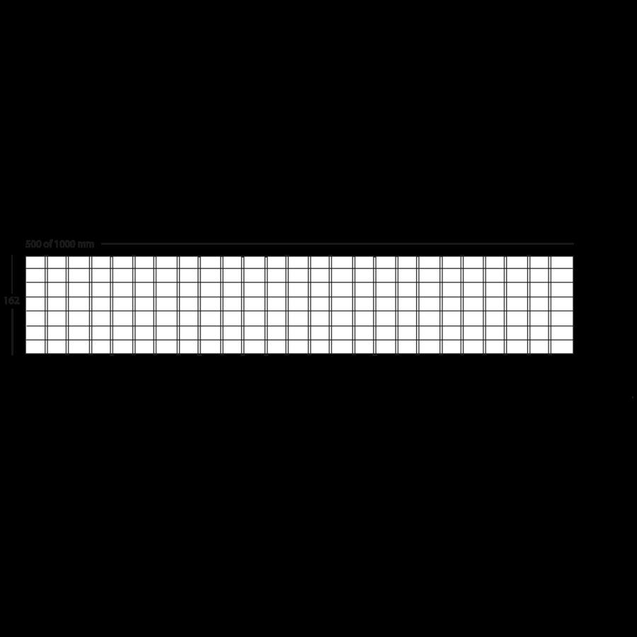 | Maasrooster | Rvs | 49,8 x 16,1 x 2,3 Cm