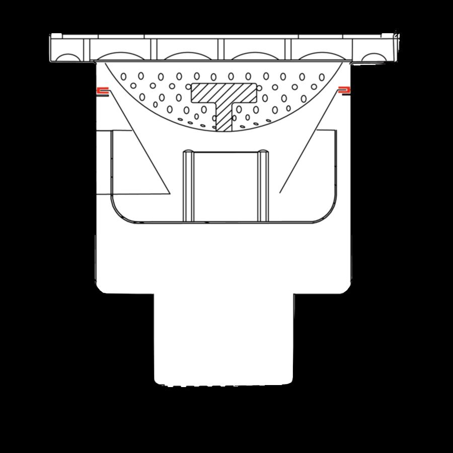 Afvoerput | Industrieel | RVS | 300 x 300 mm