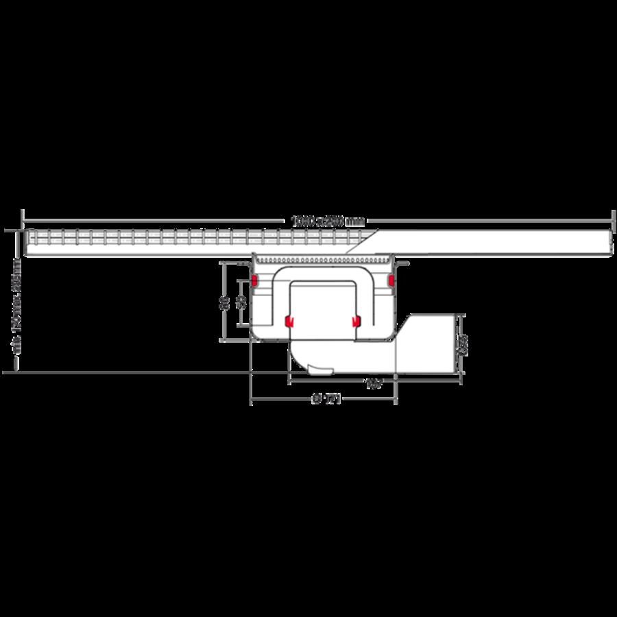Afvoergoot | RVS | 1000 x 200 mm