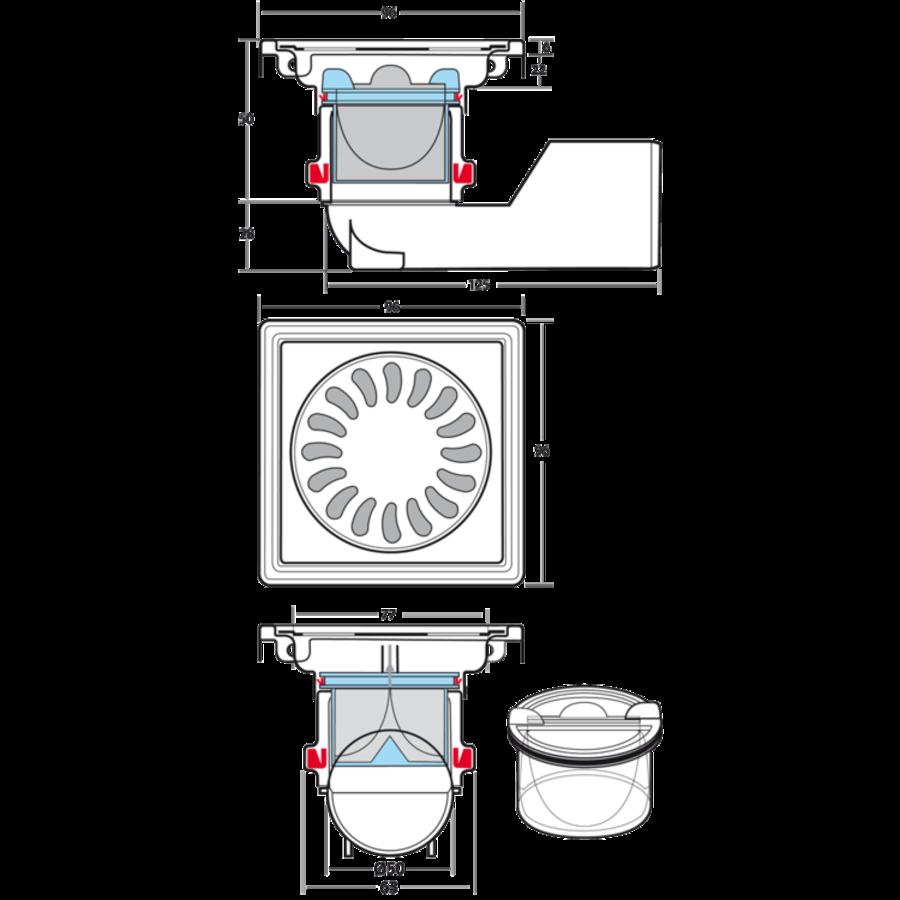 Viega keuken afvoer combinatie 1 1-2- x 70 mm - Sanitair outlet online |  BESLIST.nl | Lage prijzen