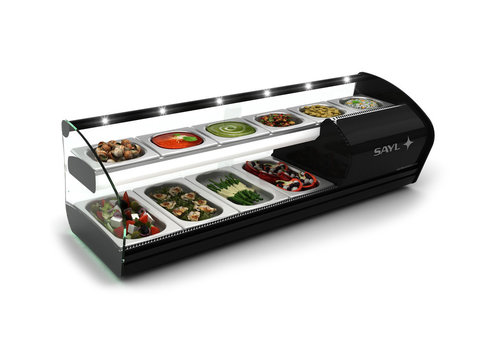 Sayl Double Tapas Refrigerated Display   2 floors Suitable for 40mm deep trays 2 Sizes