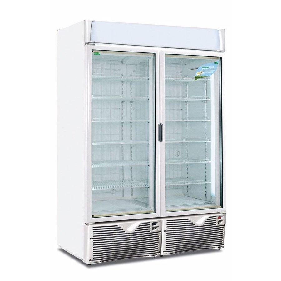 Freezer with glass doors Energy efficient!