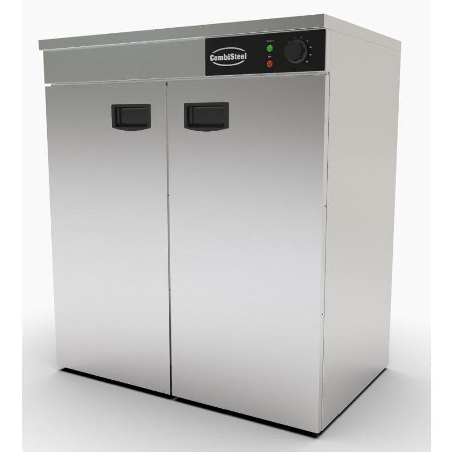 Stainless steel warming cabinet 2 doors