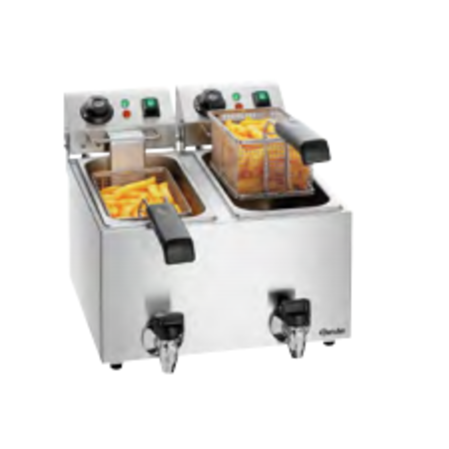 Friteuse SNACK II Plus | Rostfreier Stahl 4 Liter 9 kG